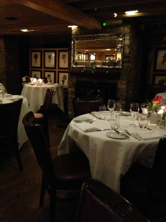 Bleeding Heart Restaurant:                   Dining area downstairs at the restaurant