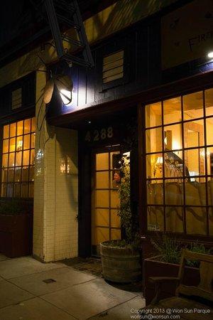Firefly Restaurant :                   Front of restaurant