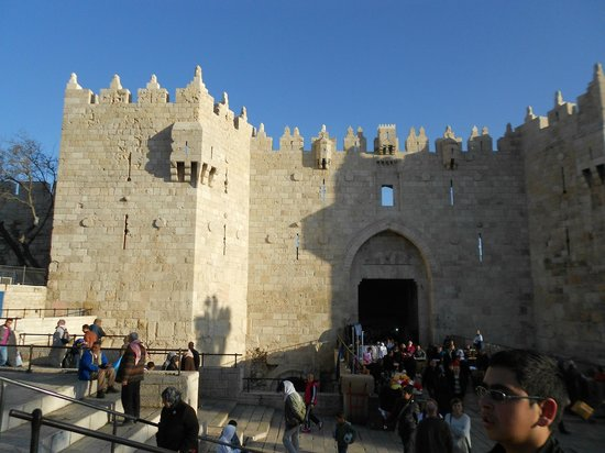 Golden Walls Hotel:                   the Damascus Gate