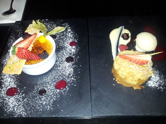 ely gastro bar: Tasty Creme brulee and Apple crumble