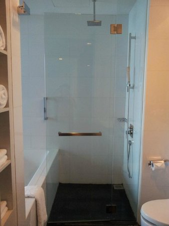 The Quincy Hotel by Far East Hospitality:                   Standing shower and bathtub