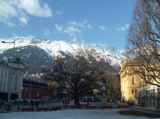 Technikerhaus:                   Mountains around Insbruck