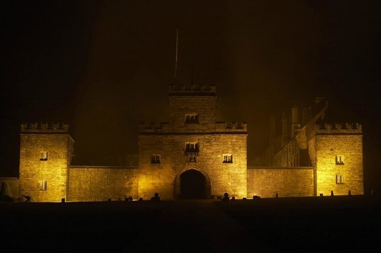 Hoghton Tower by night