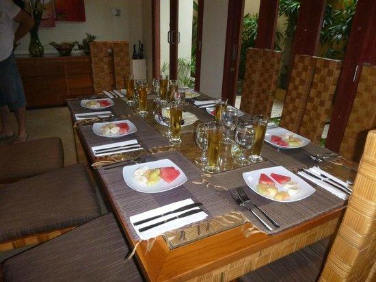 Villa Seriska Bali:                                     Breakfast