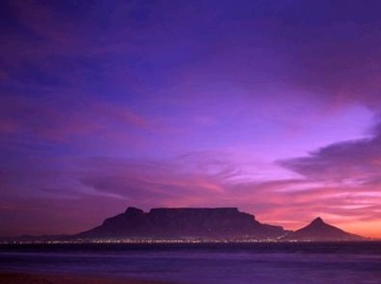 Table Mountain National Park, South Africa:                   View of Table Mountain from Blaauwberg, Table View