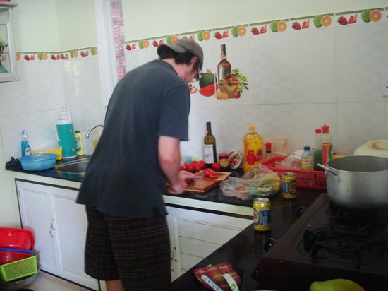 Cam Chau Homestay:                   We offered to cook them an American meal.