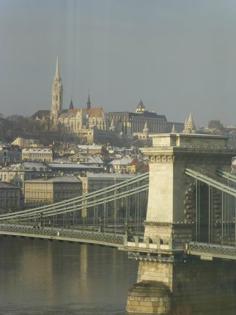 Sofitel Budapest Chain Bridge:                   View from room - stunning.