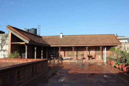Kantipur Temple House:                                     Dachterrasse