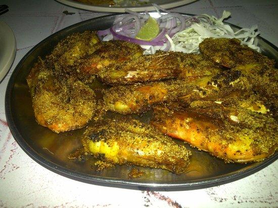 Kamlabai:                                     Rava Fried prawns - a MUST order !