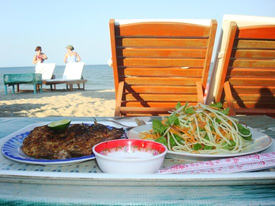 Cua Dai Beach :                   Only thing that's missing is a Bia Saigon!