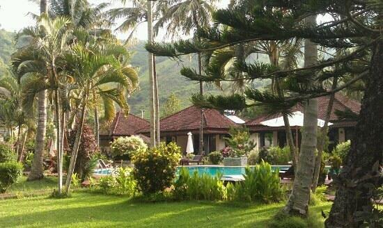 Kuta Indah Hotel: jardin