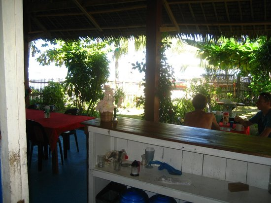 White Sand Bungalows: Nice view from dining area