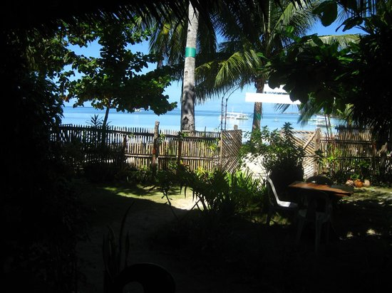 White Sand Bungalows: View from dining area