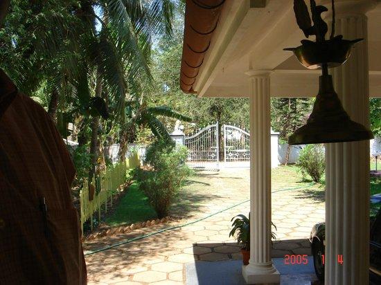 Ayuryogashram:                   view from room