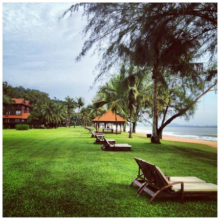 Club Med Cherating Beach:                   The beautiful resort grounds.