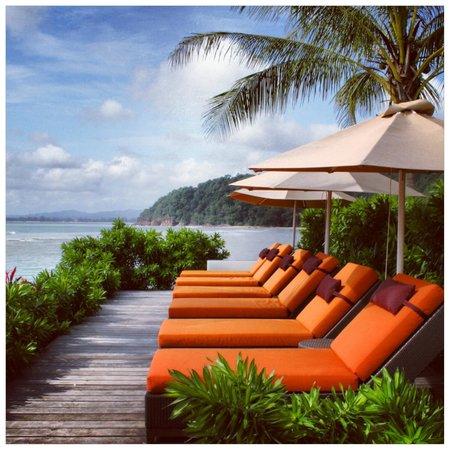 Club Med Cherating Beach:                   The Zen pool area.