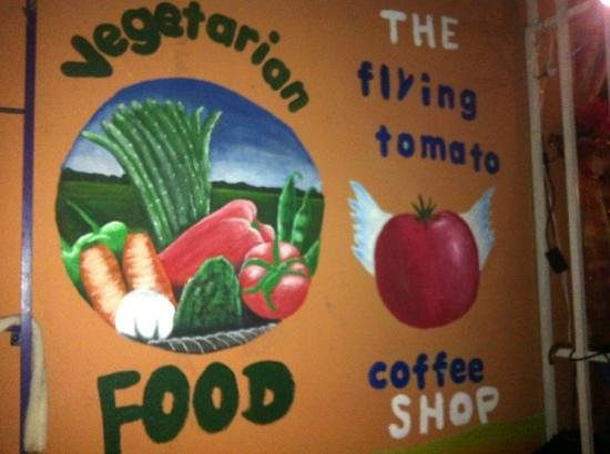 The Flying Tomato A Vegetarian Experience:                   fly on in, if not today, tomato ;-)
