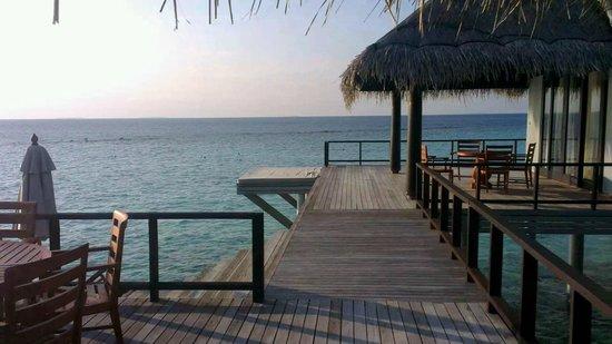 Anantara Kihavah Maldives Villas:                   Residence villa deck in front of guest room