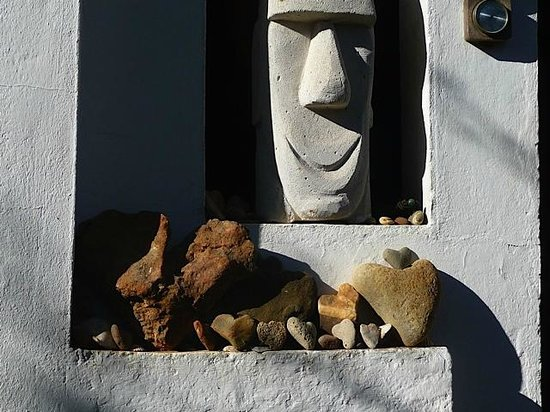 """Quinta do Coracao:                   """"coracao"""" rememberings. a detail in one of the many good outside sitting view"""