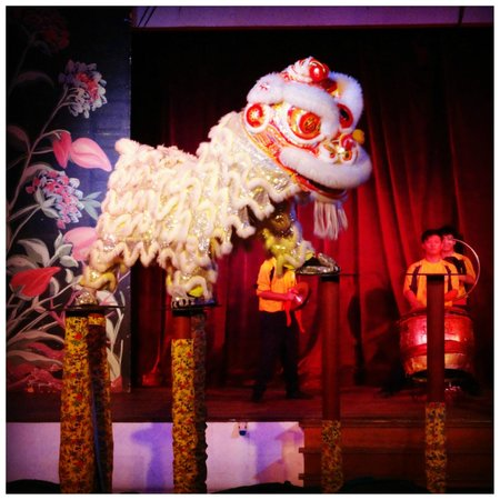 Club Med Cherating Beach:                   The Lion Dance show.