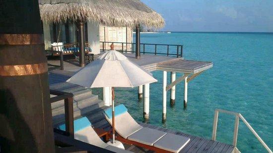 Anantara Kihavah Maldives Villas:                   Residence villa master bedroom and deck
