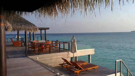 Anantara Kihavah Maldives Villas:                   Residence villa deck with infinity pool