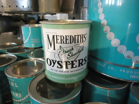 Oyster canning exhibit, Annapolis Maritime Museum, Feb 2013