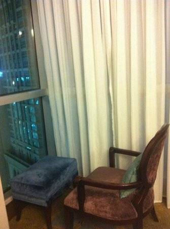 Raffles Makkah Palace:                   Chair to see the out view.
