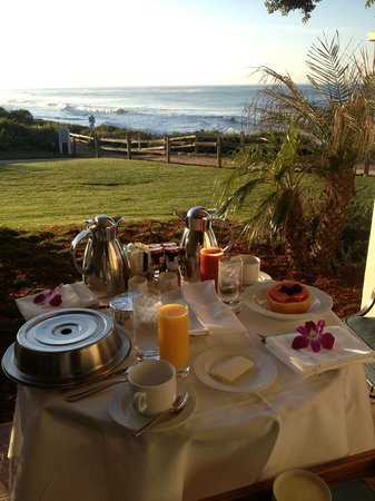 Bacara Resort & Spa:                   Breakfast on the patio