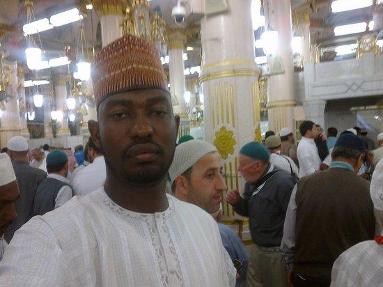 مسجد القبلتين:                   inside a mosque in madeenah                 