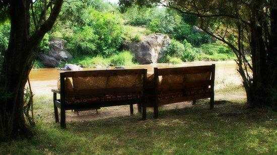 Mara Timbo Camp:                                     belle vue auf den mara river