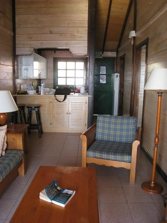 Turistico Rural Santa Ana:                   In the living room -looking though to the kitchen and front door