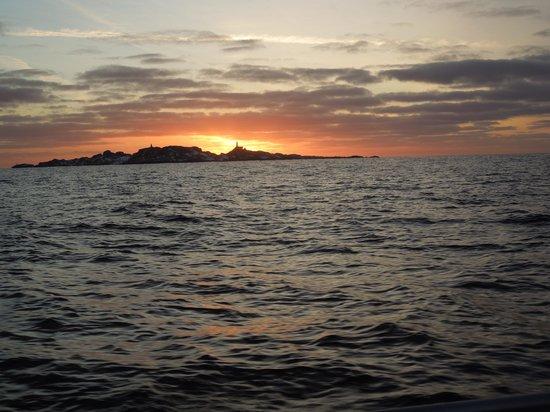 Tregde Ferie :                                     Sonnenaufgang gegen 10:00 Uhr