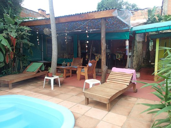 Garden Stone Hostel:                   breakfast area
