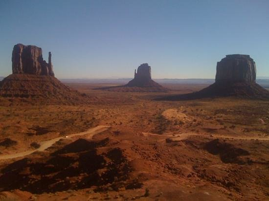 Monument Valley Navajo Tribal Park:                   Monument Valley from our room at The View Hotel