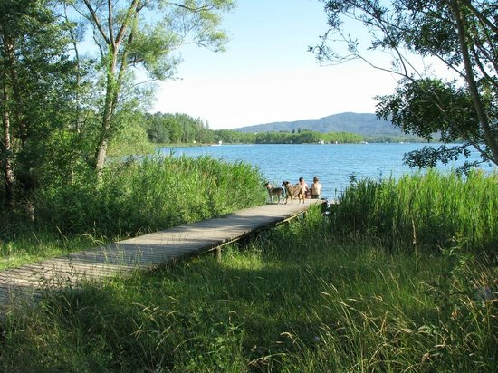 Lake Banyoles:                   This is one of several access points to lake.