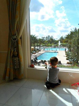 Waldorf Astoria Orlando:                   Pool from lobby