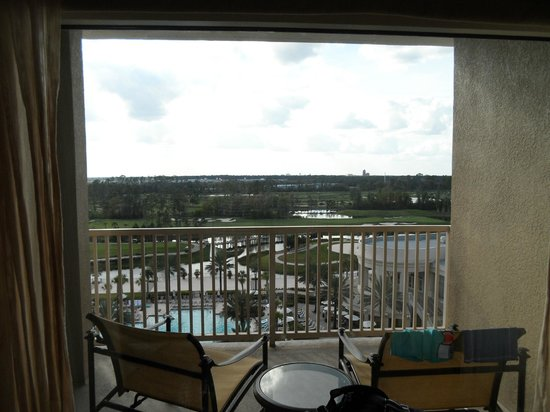 Waldorf Astoria Orlando:                   view from bedroom (disney/pool view)