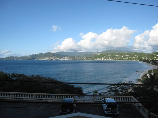 The Flamboyant Hotel & Villas:                   Grand Anse Bay from our room