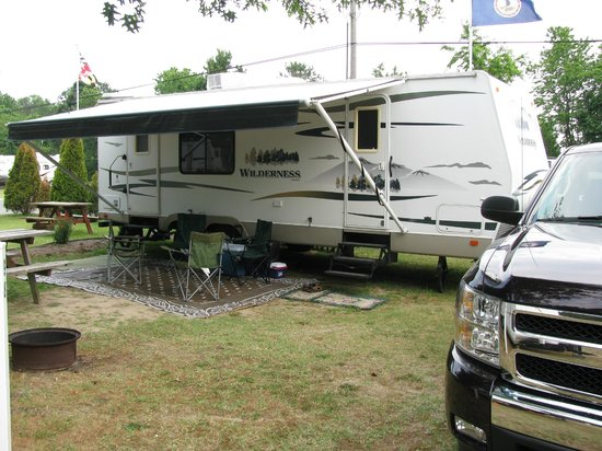 Big Oaks Family Campground :                   One site we stayed in