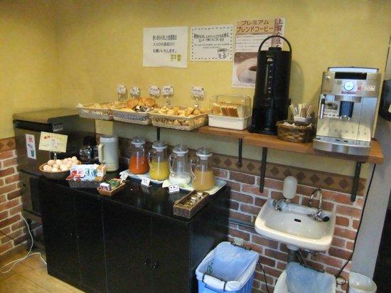 Hotel Wing International Korakuen:                   無料朝食の飲み物