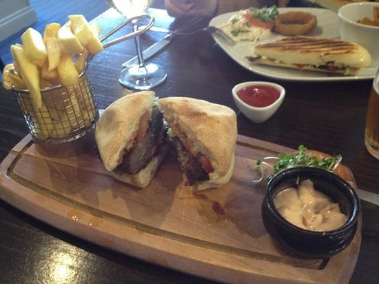 The Granary:                   venison burger