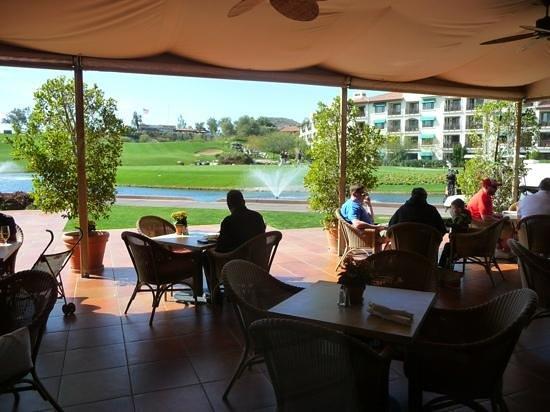 Arizona Grand Resort & Spa:                   The outdoor restaurant overlooking the first tee.