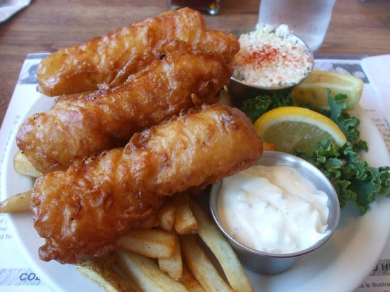 LeRoys Blue Whale:                   Best Fish & Chips! Photo: Virginia Marie Rodriguez