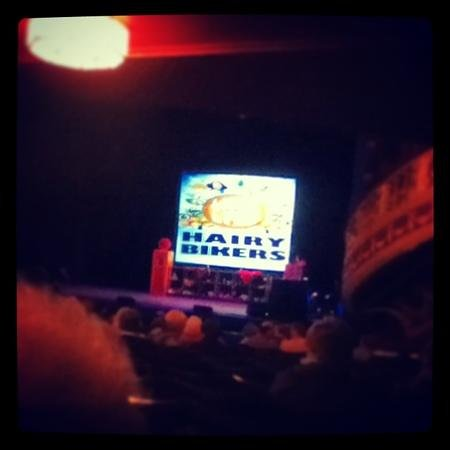 Sunderland Empire:                   the hairy bikers world tour was hilarious!!
