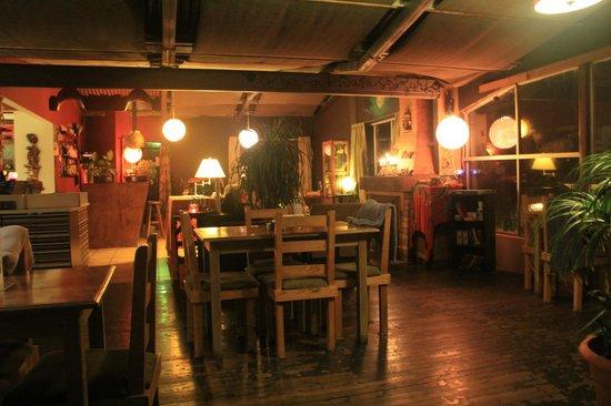 Poas Lodge and Restaurant:                   restaurant area