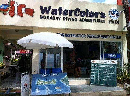WaterColors Boracay Dive Resort:                   dive shop in station 3
