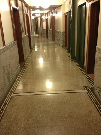 Hotel Gibbs:                   4th floor hallways