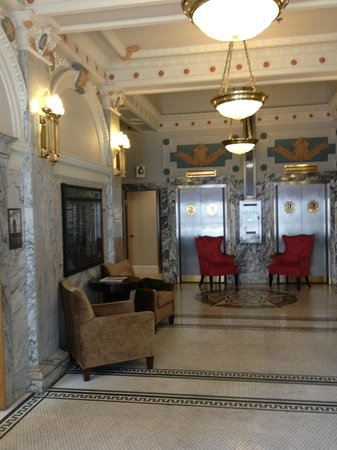 Hotel Gibbs Downtown San Antonio Riverwalk:                   Historic features in lobby