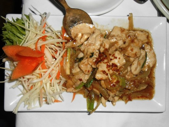 Bann  Thai Restaurant:                   Garlic & Pepper Chicken - Delicious!